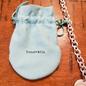 Tiffany & Co. Jewelry - Authentic Tiffany & Co Round Tag Silver Necklace